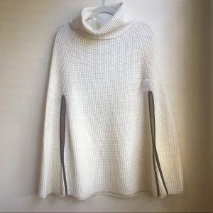 NWT Lauren Ralph Lauren Cream Wool Knit Poncho